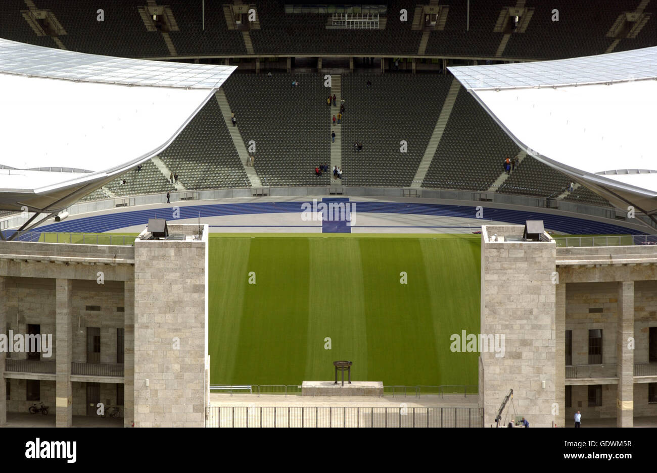 The Olympiastadion (Olympic Stadium) in Berlin - Stock Image