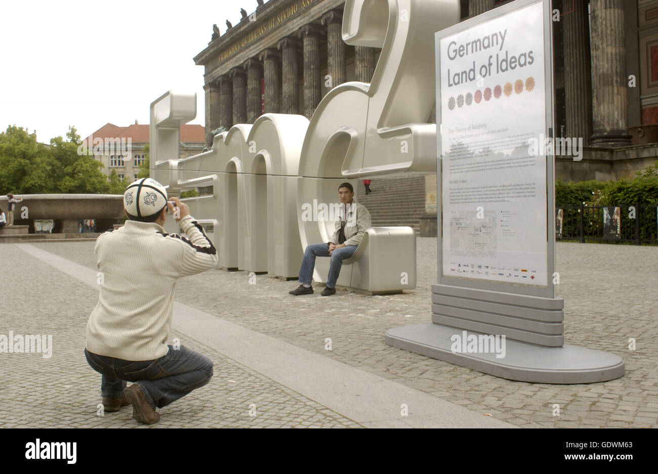 Land of Ideas - The Theory of Relativity - Stock Image