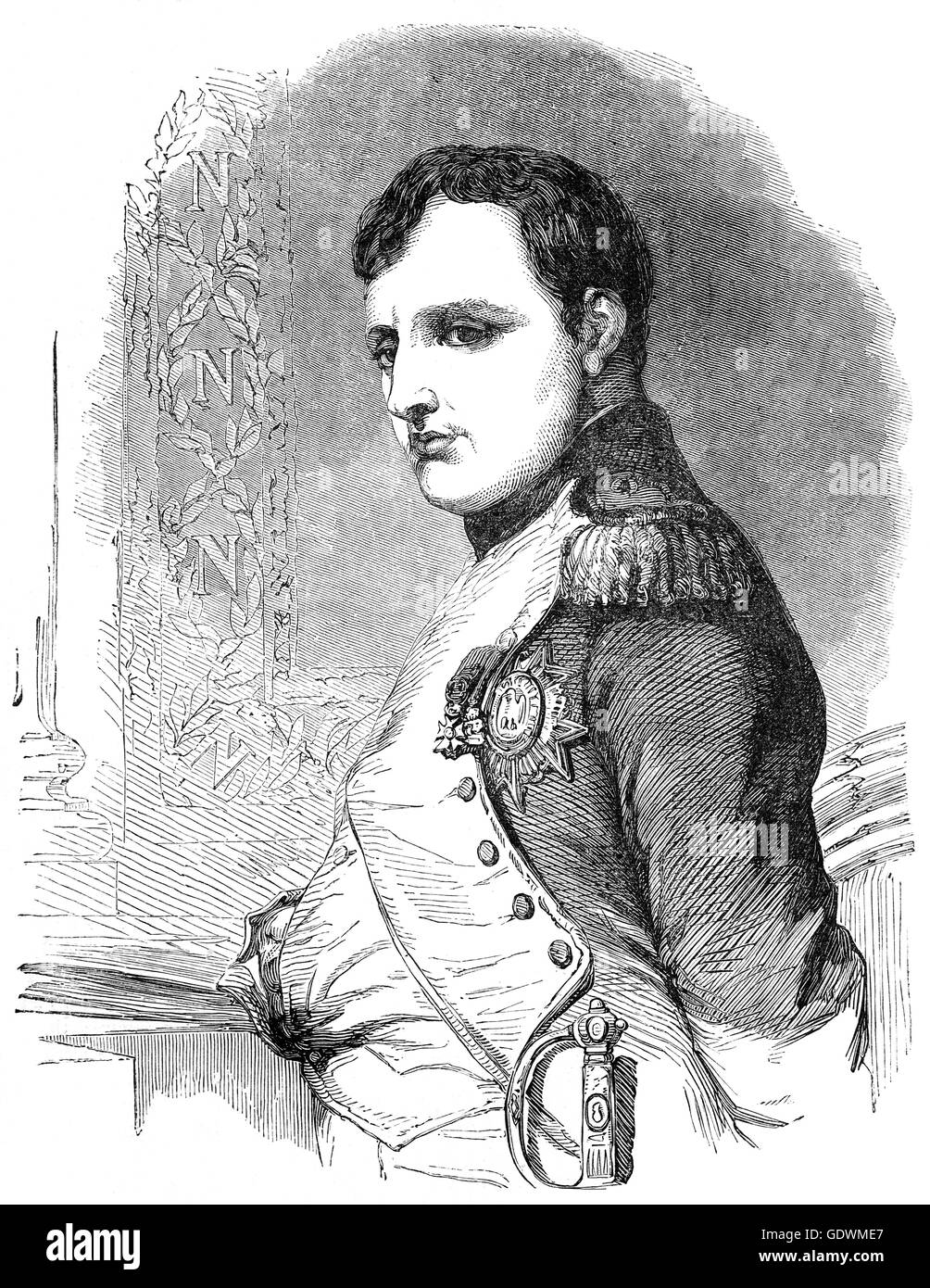 Napoléon Bonaparte(1769 – 1821) was a French military and political leader who rose to prominence during the - Stock Image