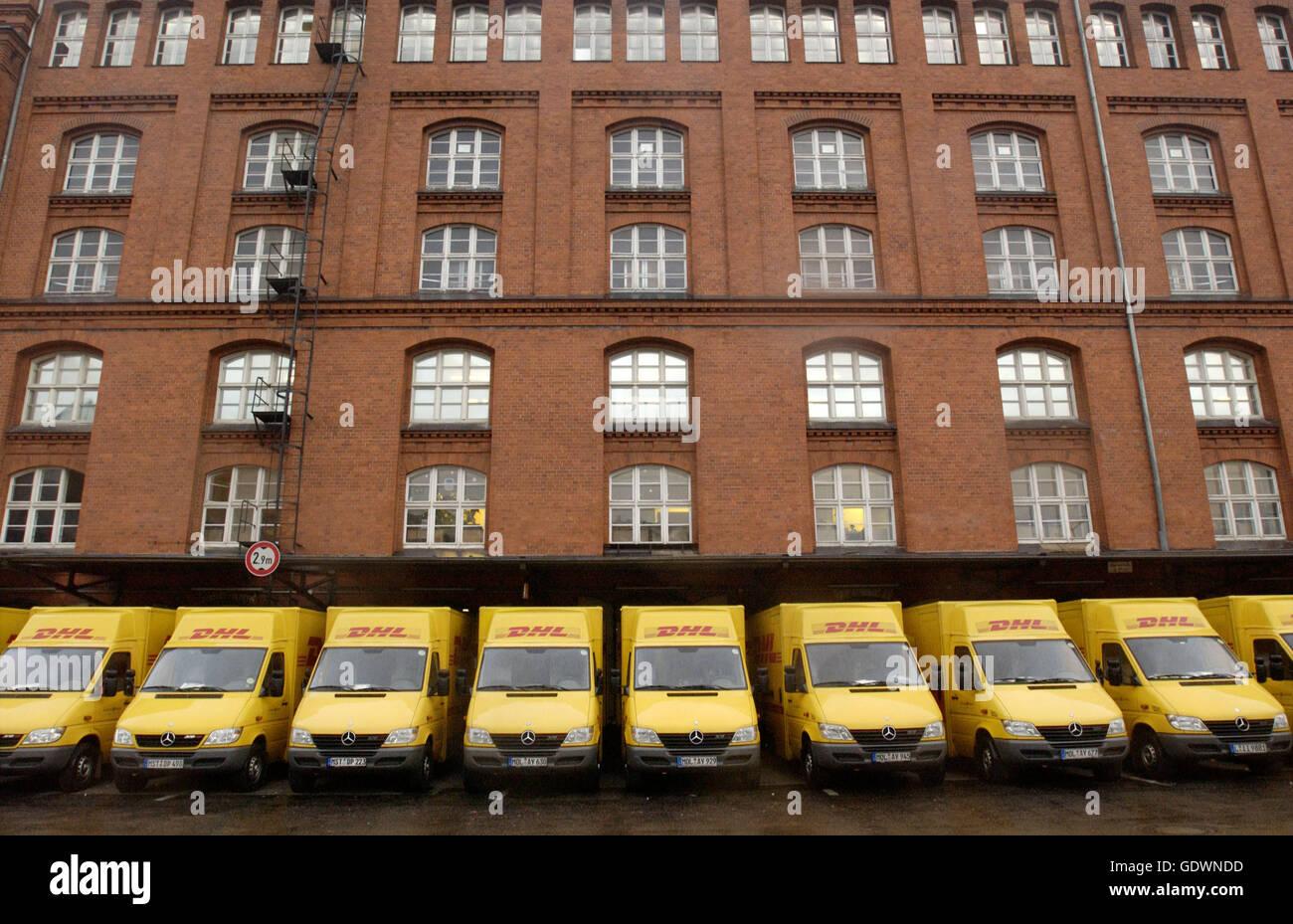 DHL distribution center in Berlin Tempelhof - Stock Image