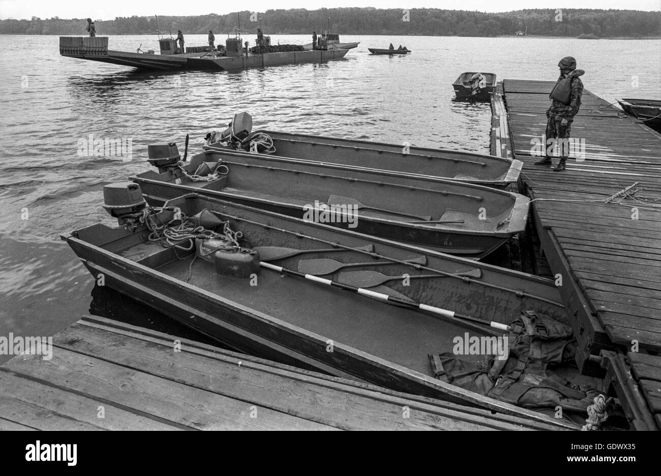 Exercise of the Western Allies on the Havel - Stock Image