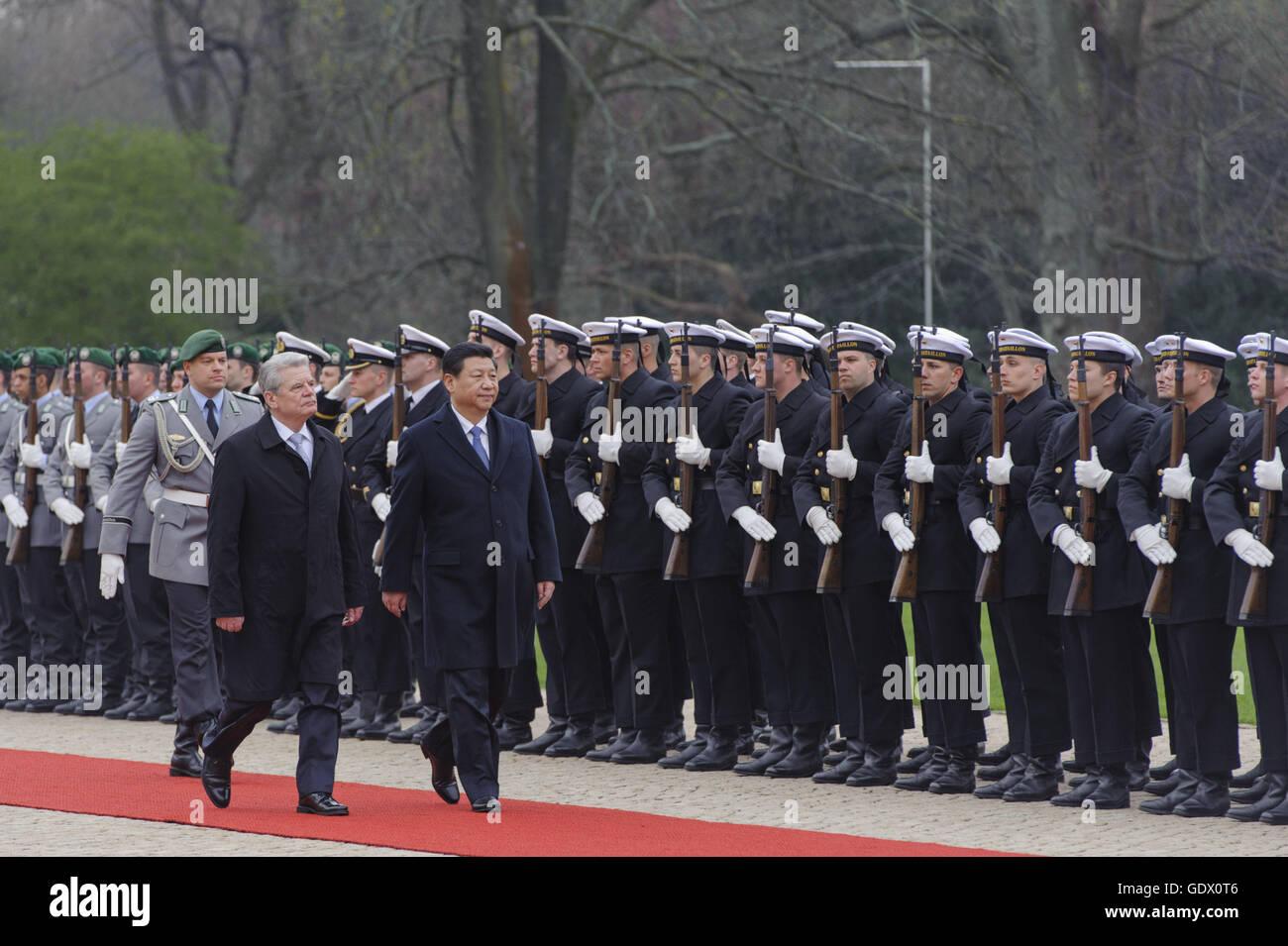 Gauck and Xi - Stock Image