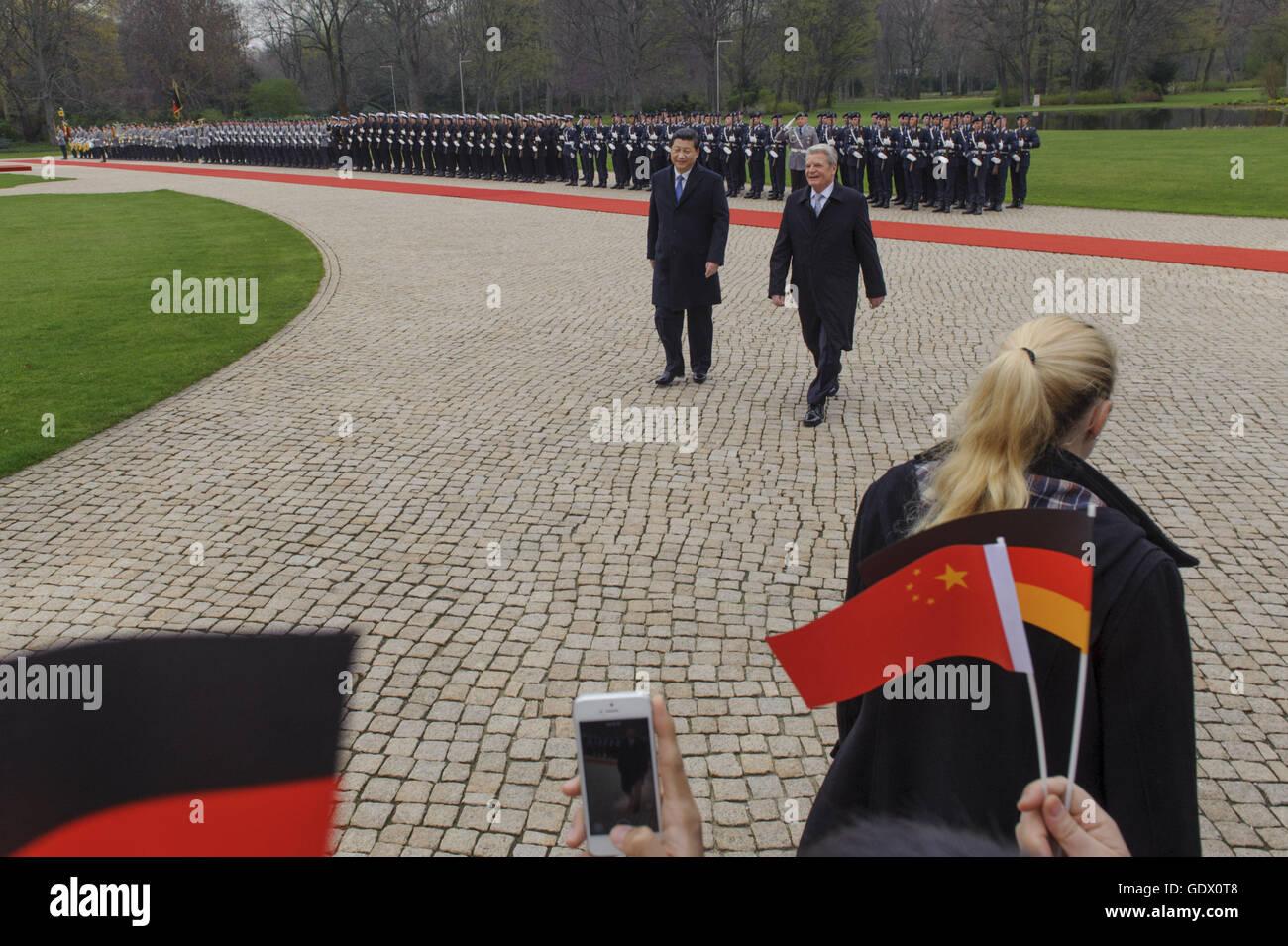 Xi and Gauck - Stock Image