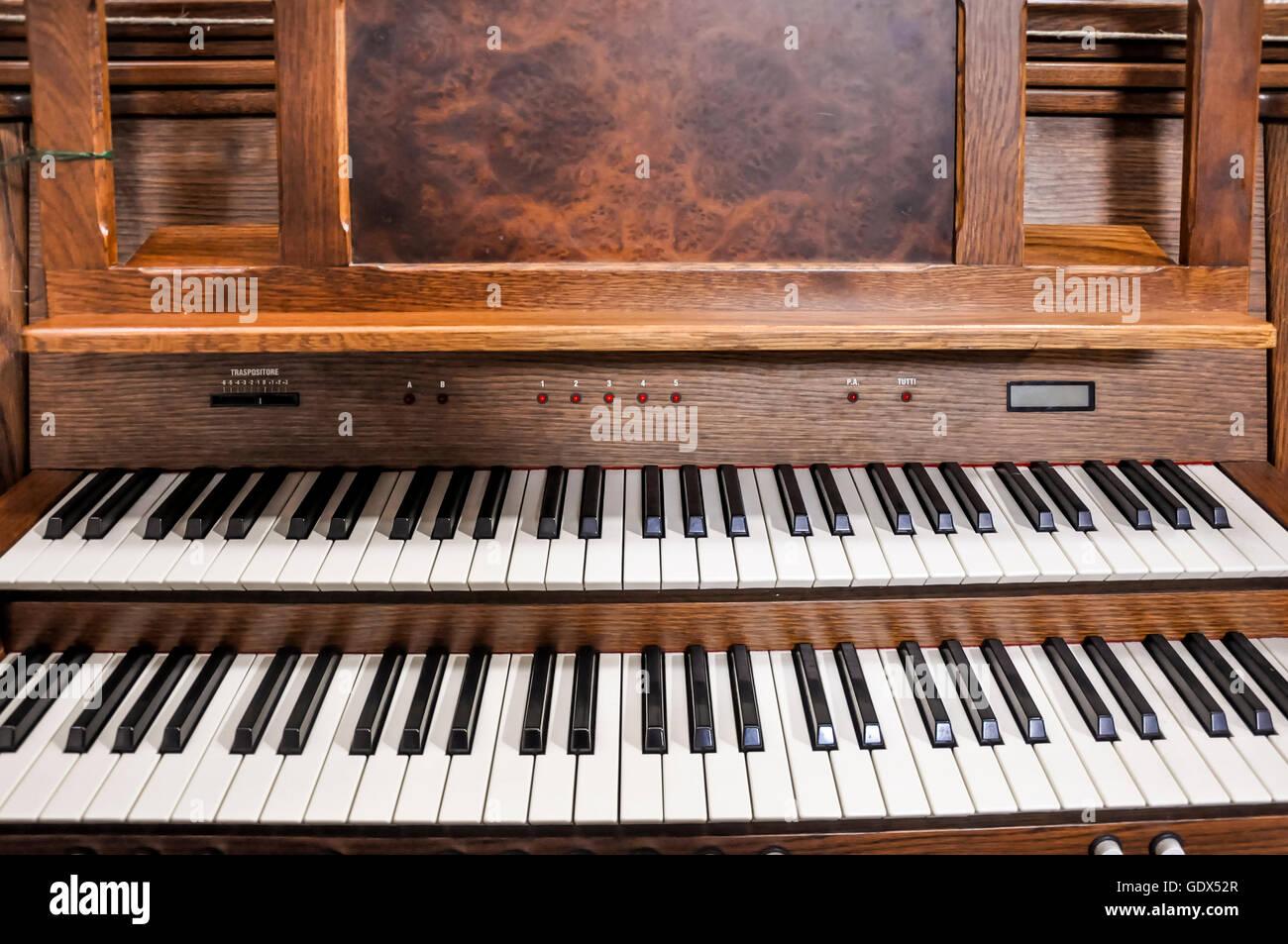 Church pipe organ. - Stock Image
