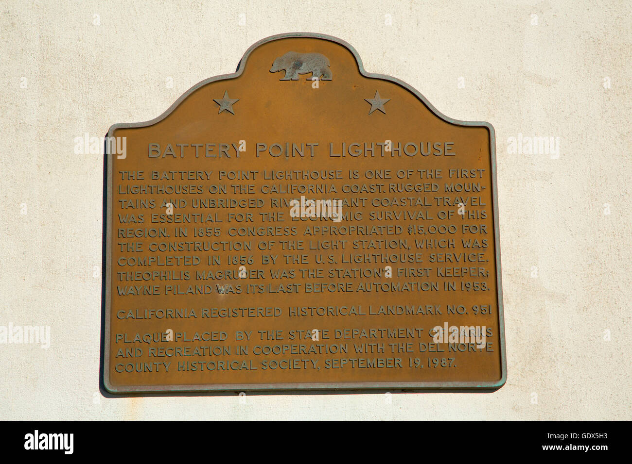 California Historic Landmark Plaque Stock Photos & California ...