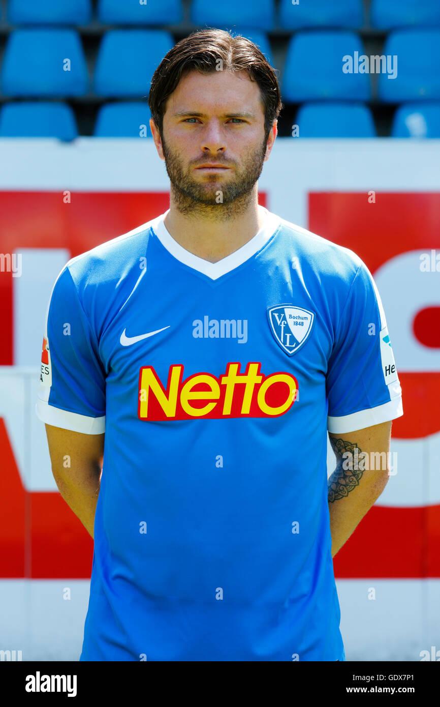 football, 2. Bundesliga, 2016/2017, VfL Bochum, team presentation for the game season, portrait Tim Hoogland - Stock Image