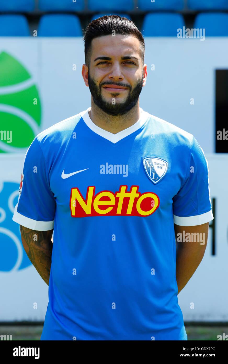 football, 2. Bundesliga, 2016/2017, VfL Bochum, team presentation for the game season, portrait Selim Guenduez - Stock Image