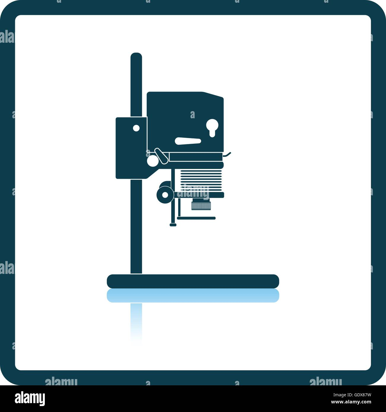 Photo Enlarger Stock Photos Images Alamy Gdx Intercom Wiring Diagram Icon Of Shadow Reflection Design Vector Illustration Image