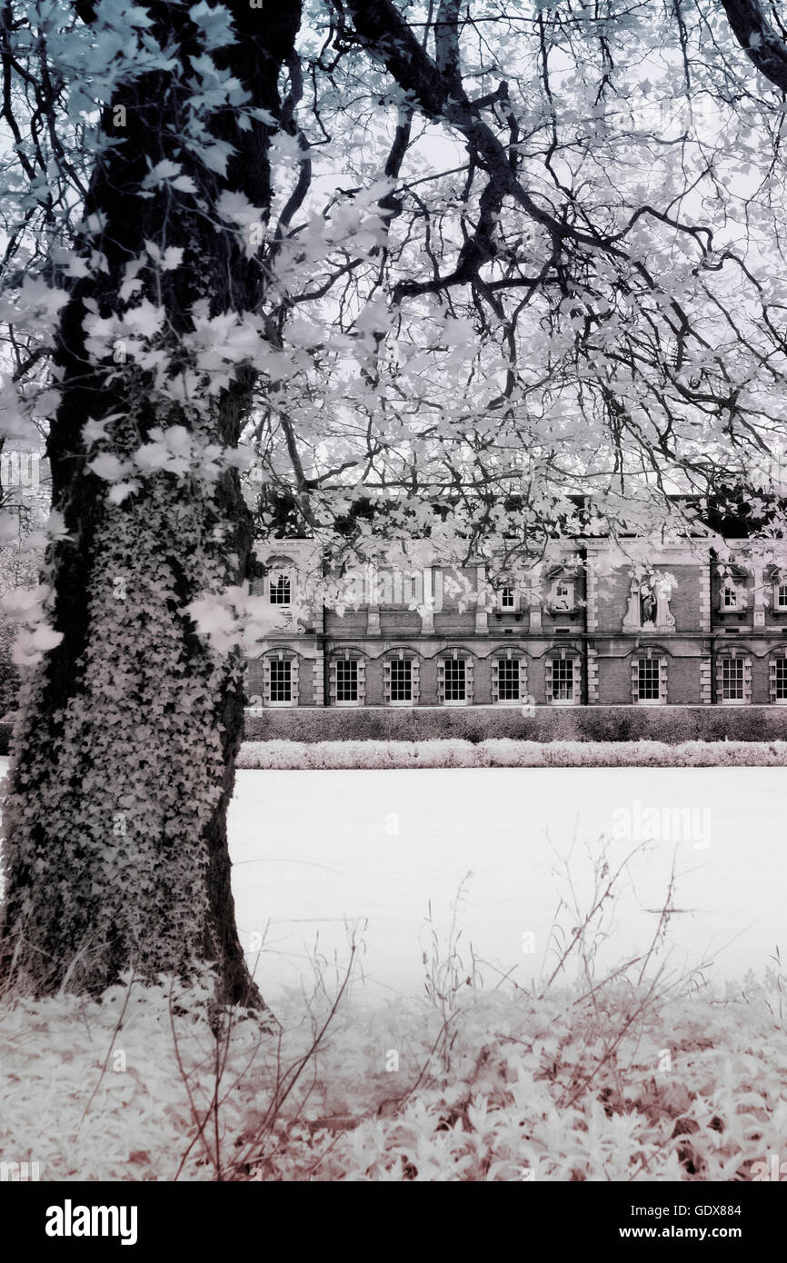 Infra-red image of Winchester College,Hampshire,England - Stock Image