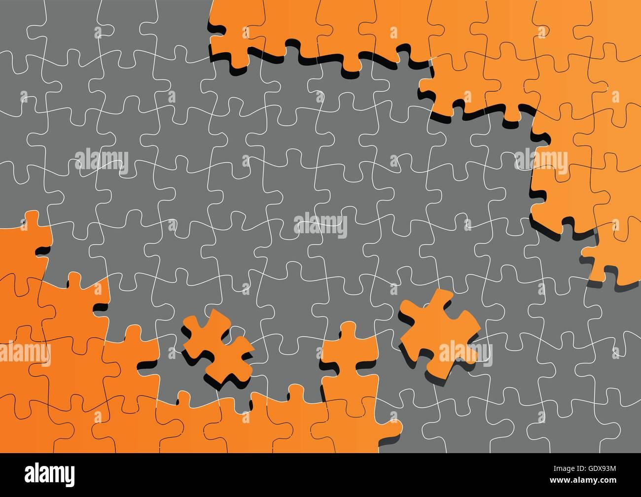 Orange Jigsaw Puzzle Vector Background Stock Photos & Orange Jigsaw ...