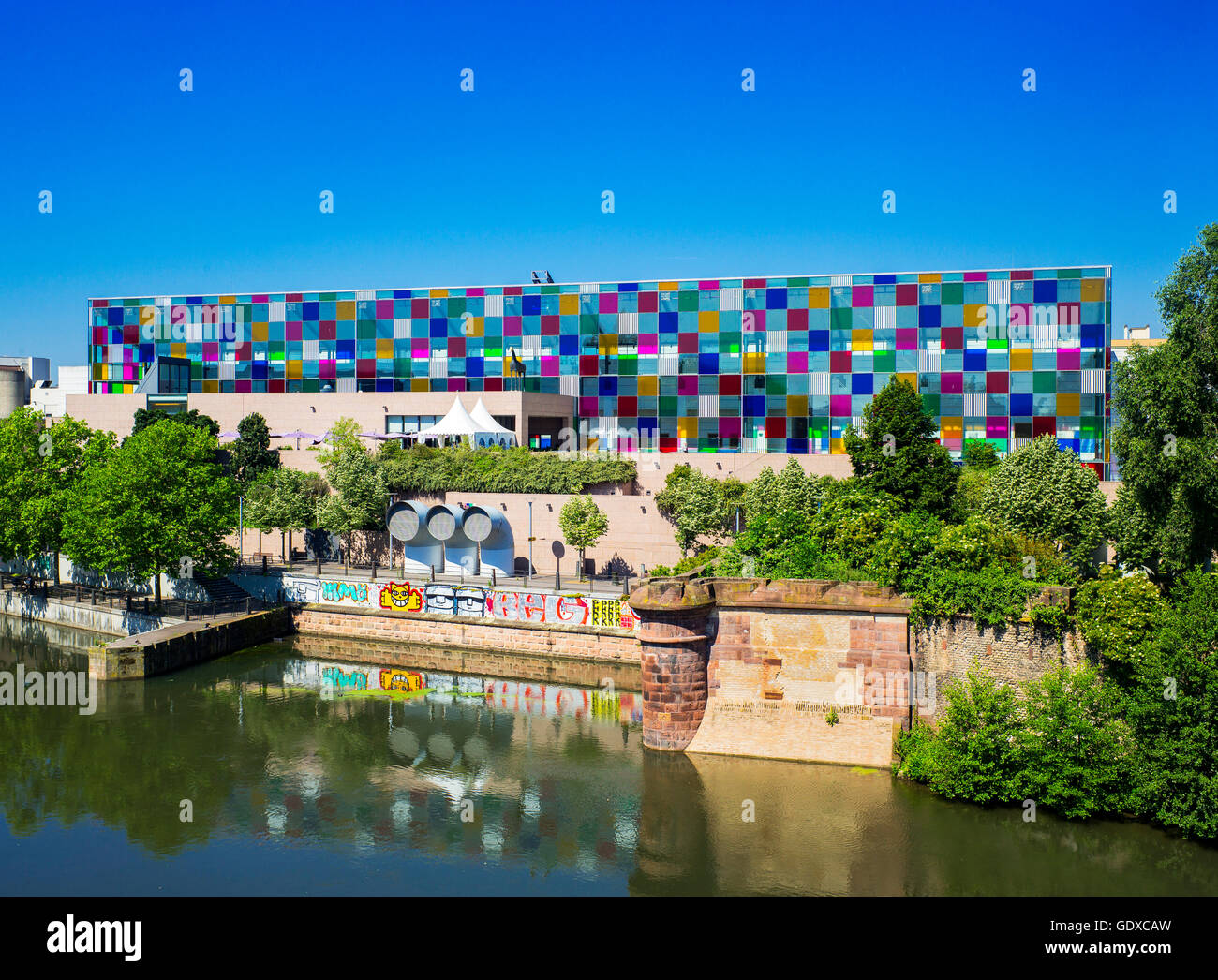 Museum of Modern and Contemporary Art, Strasbourg, Alsace, France, MAMCS, Musée d'Art Moderne et Contemporain - Stock Image