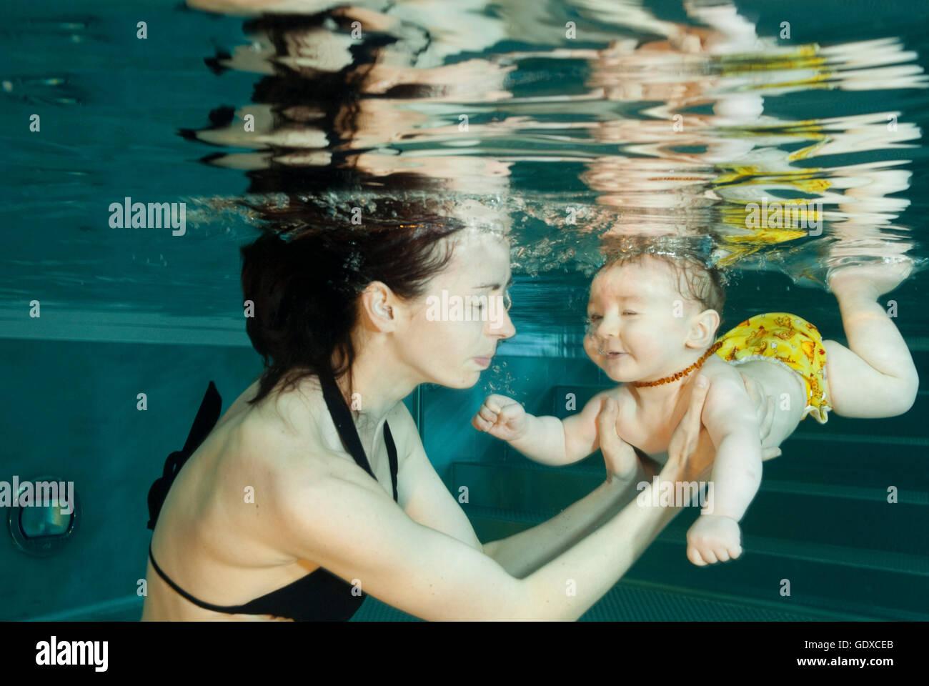 Babyswimming - Stock Image
