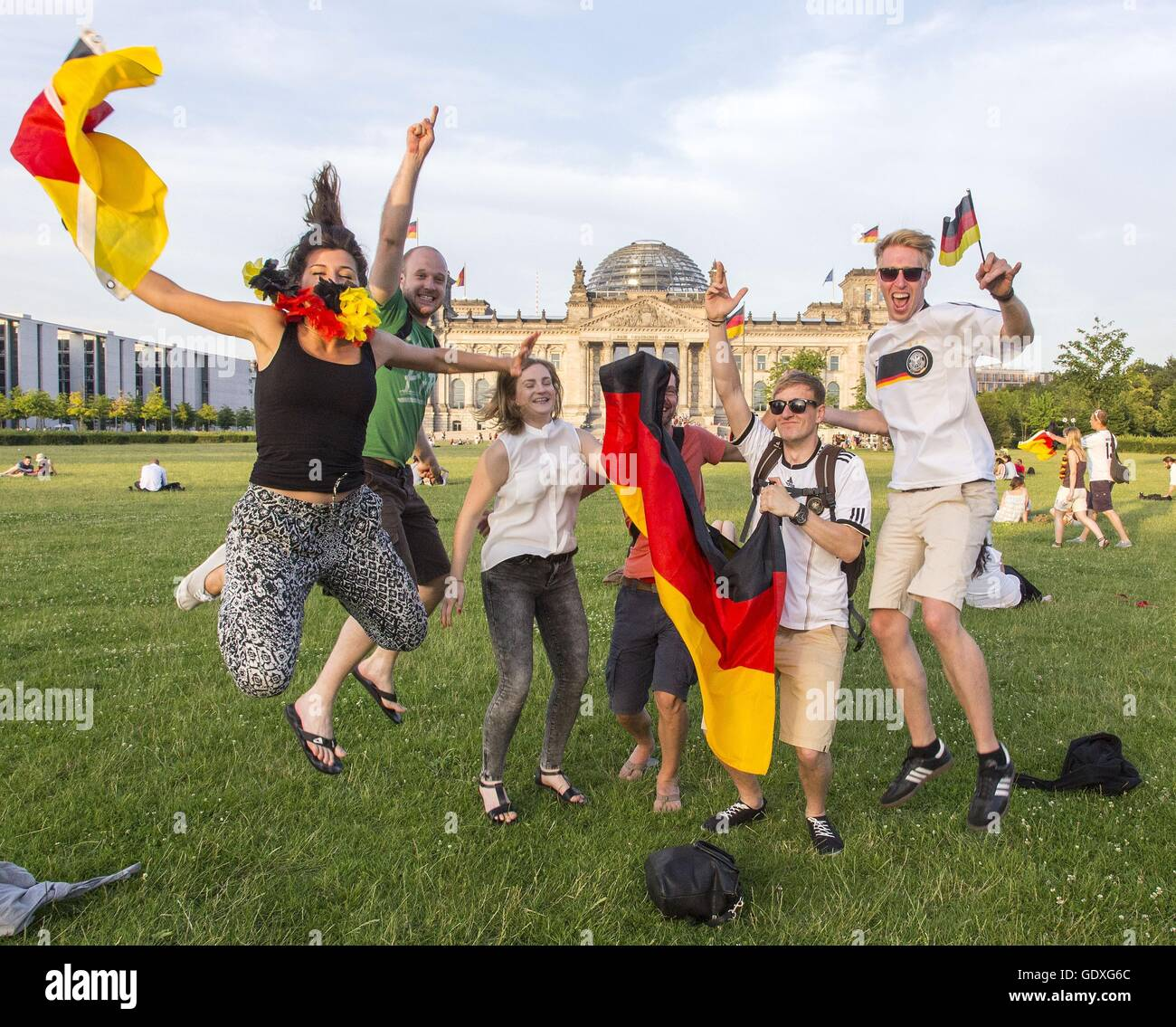 Football World Cup 2014 in Berlin, Germany, 2014 - Stock Image