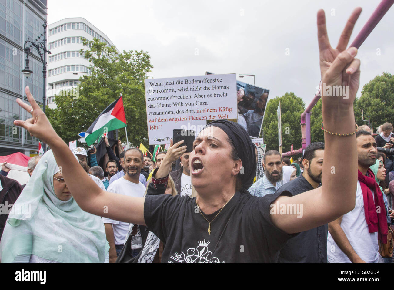 Al-Quds Demonstration in Berlin, Germany, 2014 - Stock Image