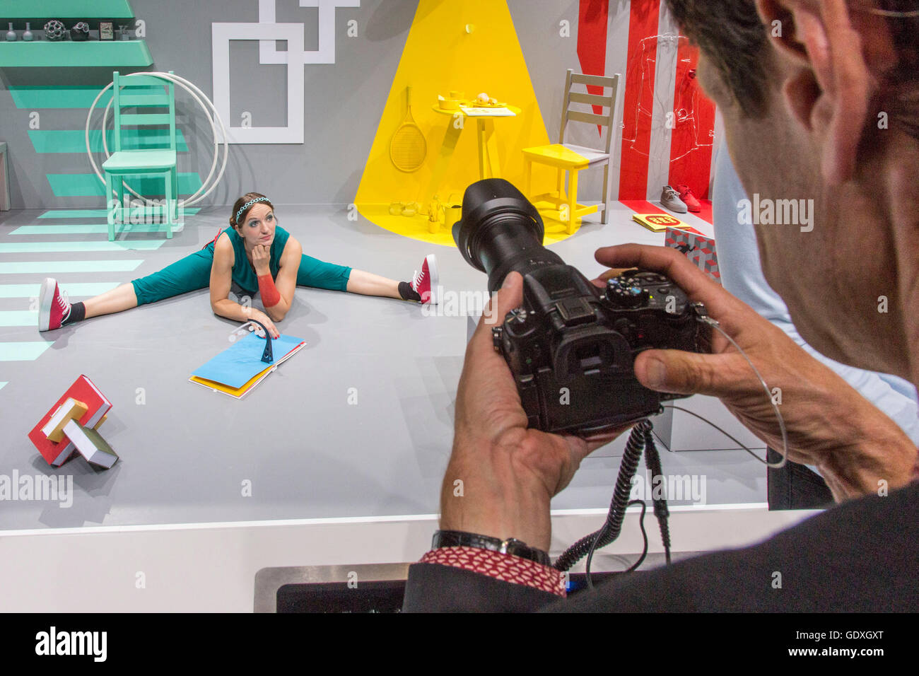 Panasonic Lumix camera at the IFA in Berlin, Germany, 2014 - Stock Image
