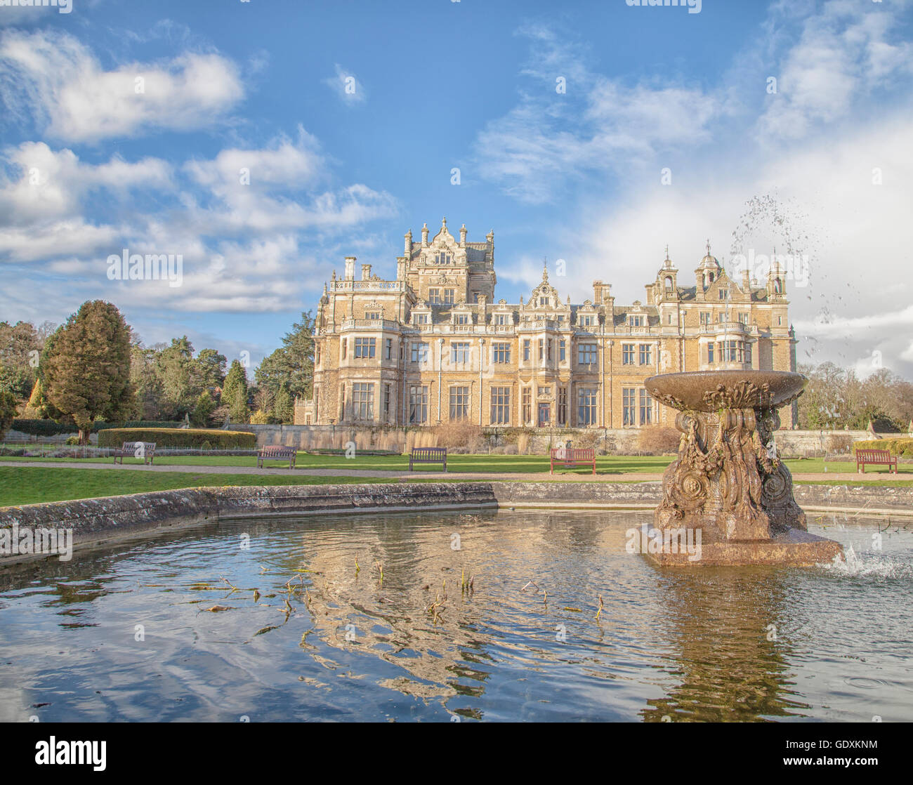 Thoresby Hall, 19th century Stately home set in the beautiful Robin Hood County of Nottinghamshire, set in Victorian - Stock Image