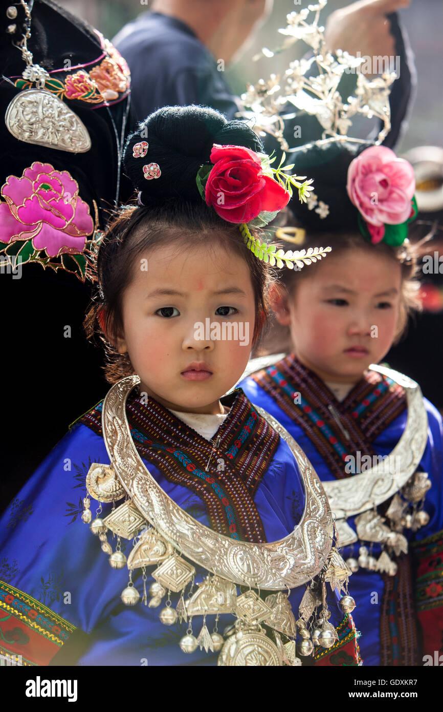 Miao Community in Qiandongnan, 2015 - Stock Image