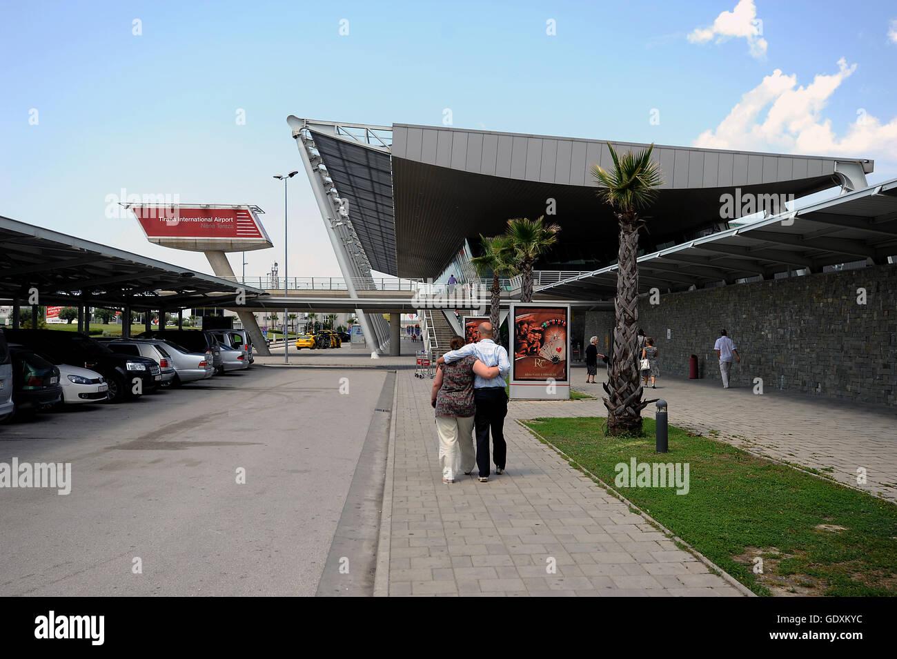 Tirana International Airport - Stock Image