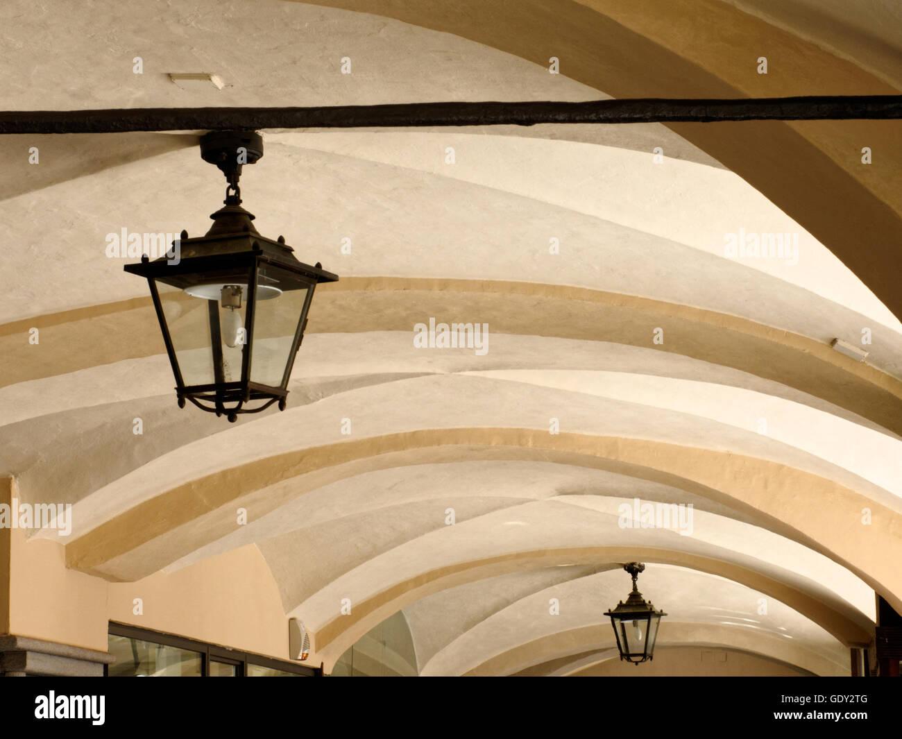 Arcades - Via Roma - Cuneo - Stock Image