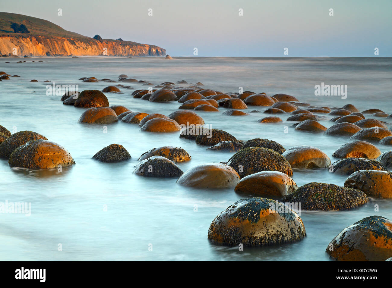 Geography Travel Usa California Landscapes Bowling Ball Beach