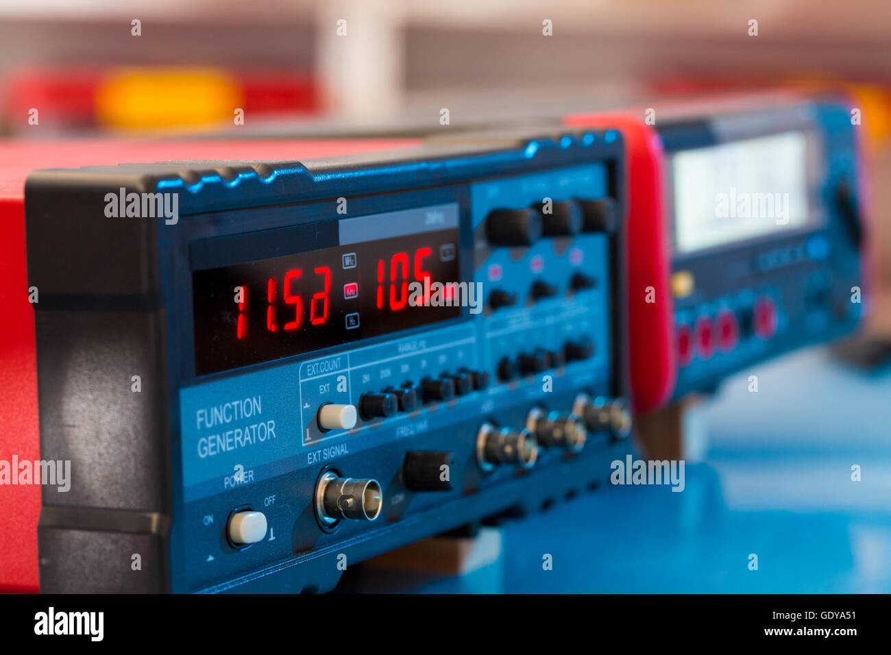 FM VHF and HF transceiver for radio communication and broadcasting Stock Photo