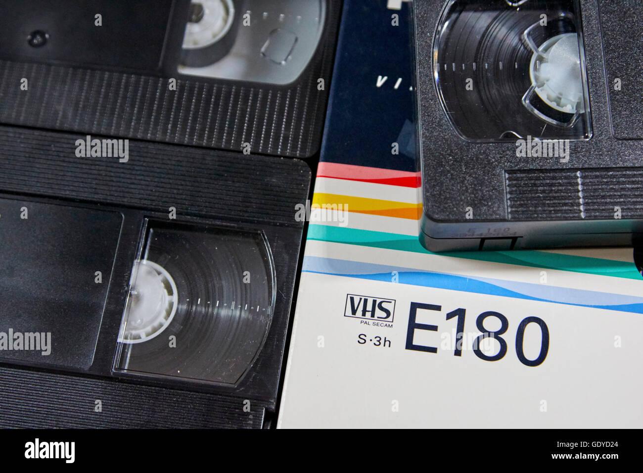 philips e180 VHS blank cassette tapes - Stock Image