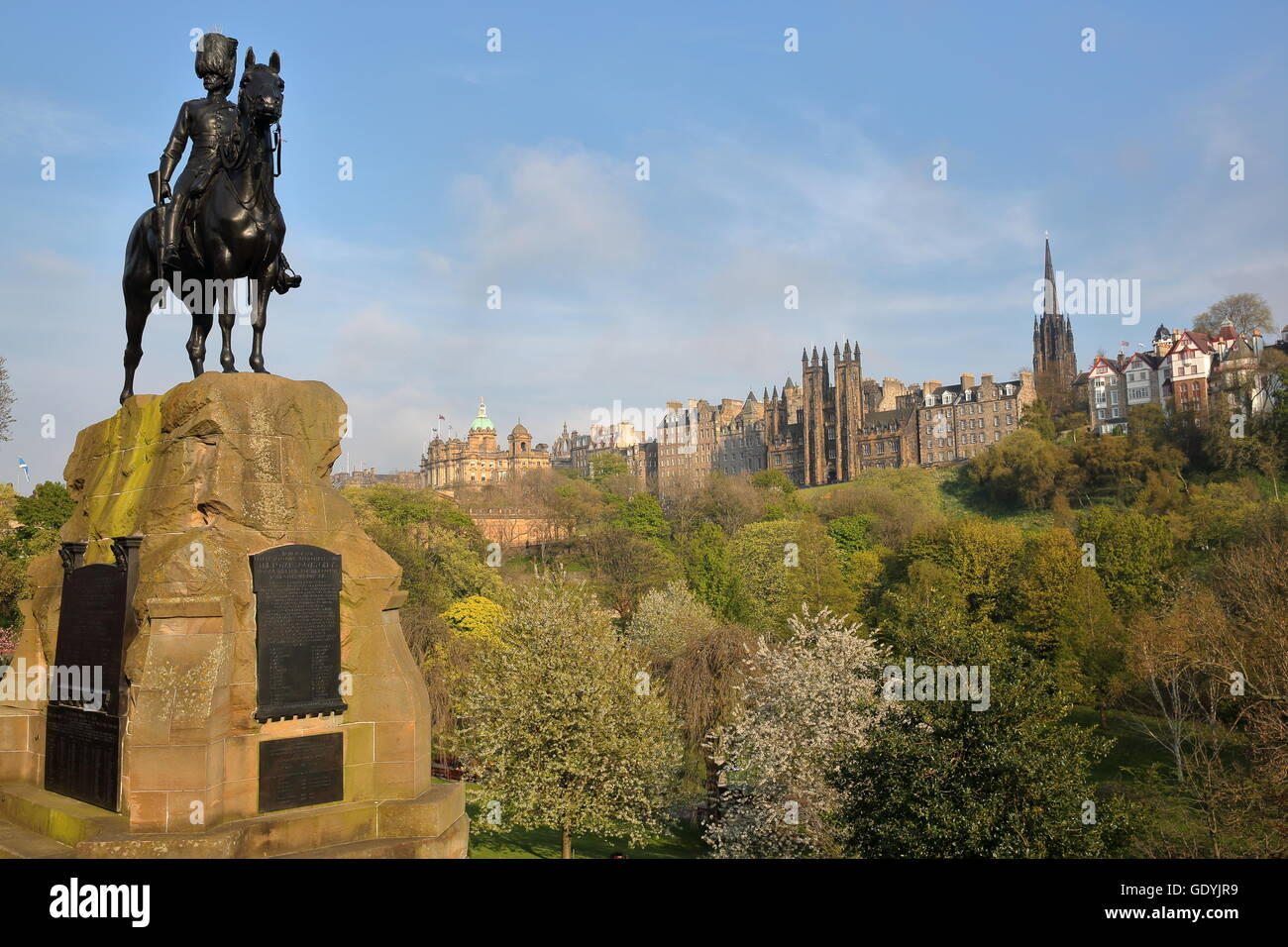 The Royal Scots Greys Monument at Princes Street Gardens, Edinburgh ...