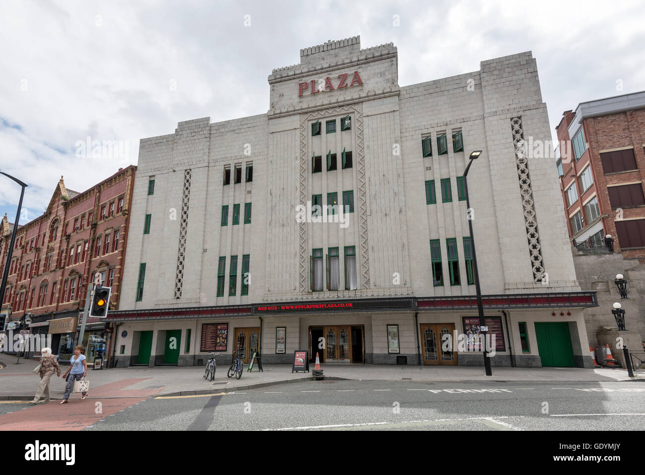 The Stockport Plaza a restored Art Deco theatre in the centre of the town. - Stock Image