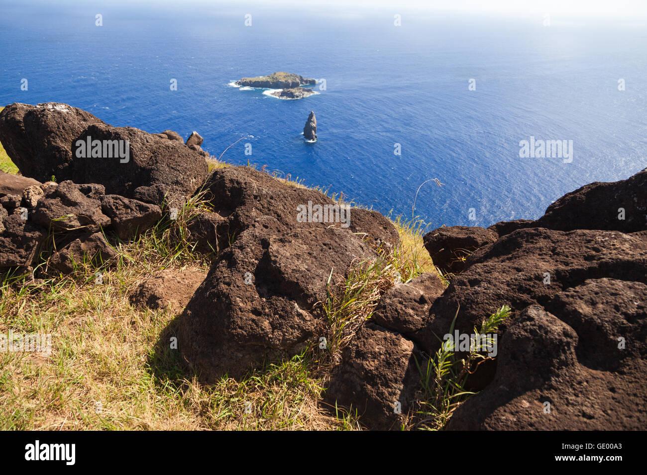 Orongo, Easter Island - Stock Image