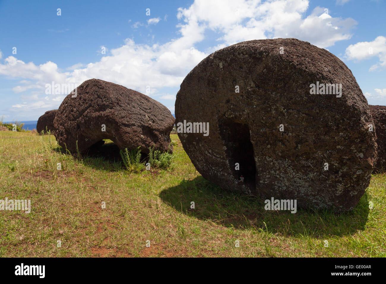 Puna Pau, Easter Island - Stock Image