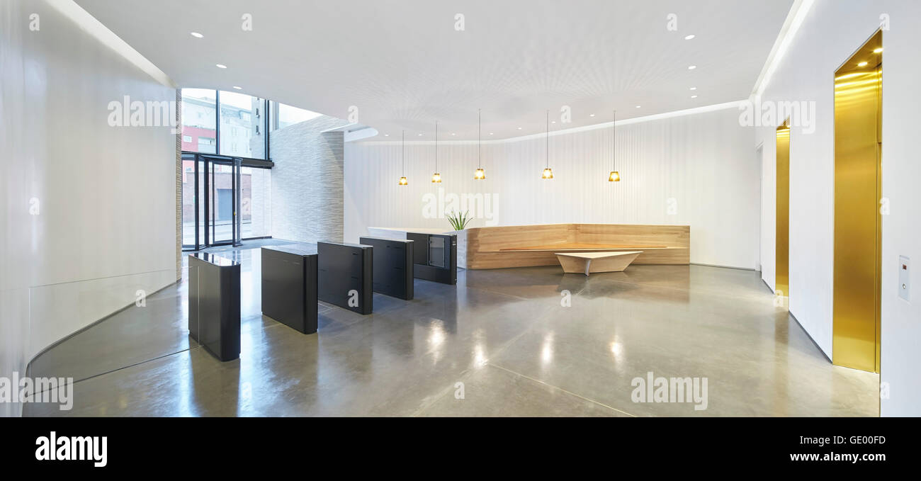 Reception With Security Barrier And Lift Lobby Turnmill