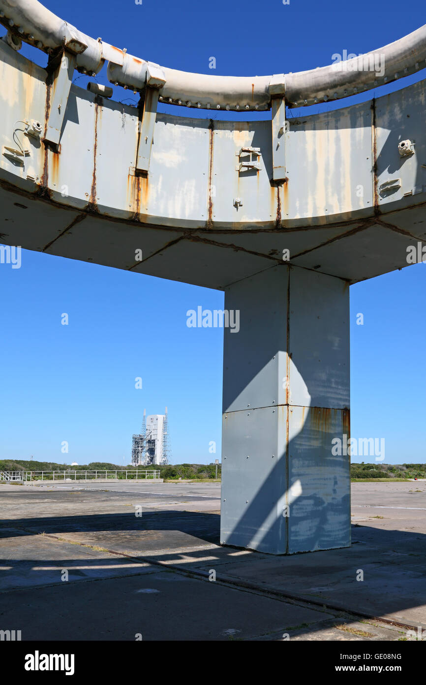 geography / travel, USA, Florida, Cape Canaveral, Kennedy Space Center, launch pad of 'Apollo 1', scene - Stock Image