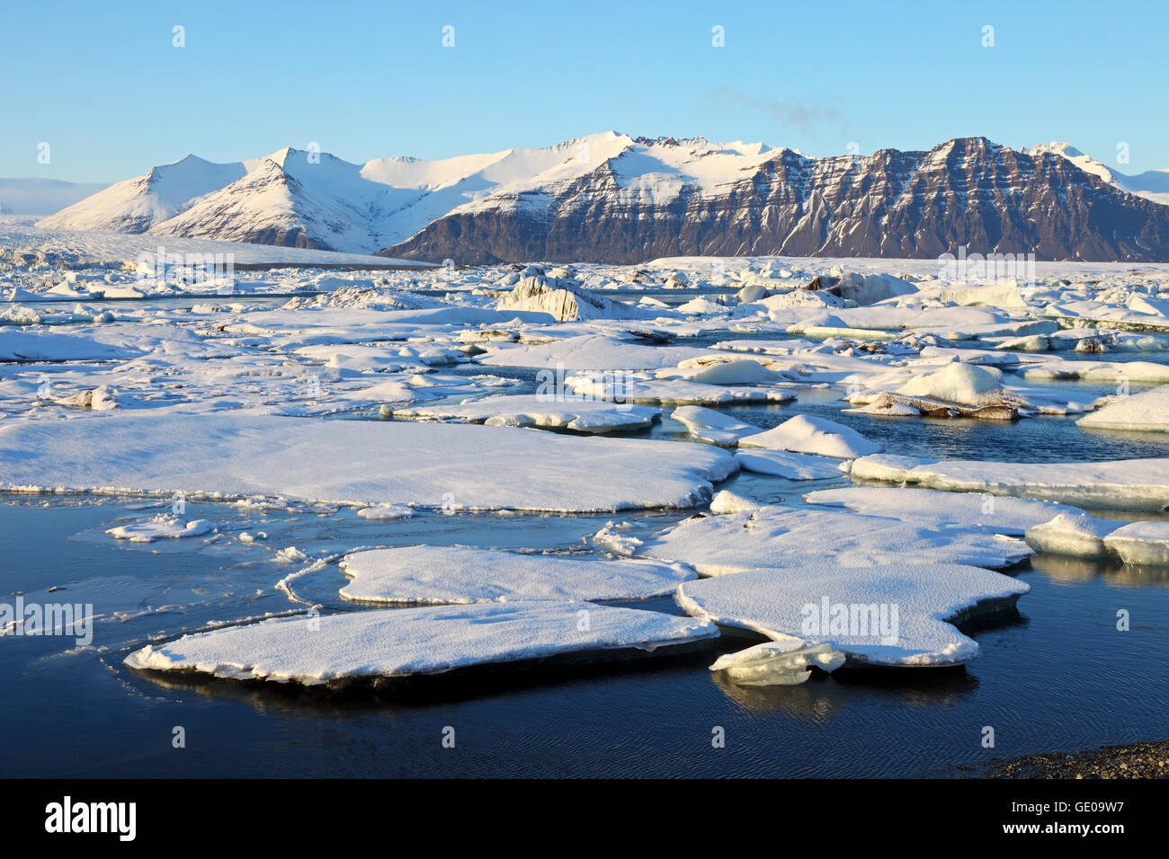 geography / travel, Iceland, Eastern Iceland, Jökulsarlon, glacial lagoon, Additional-Rights-Clearance-Info-Not-Available Stock Photo