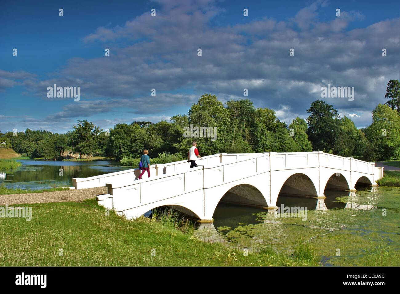Painshill Park Cobham Surrey UK Outdoor walks in this beautiful park situated in Surrey stunning landscape nature - Stock Image
