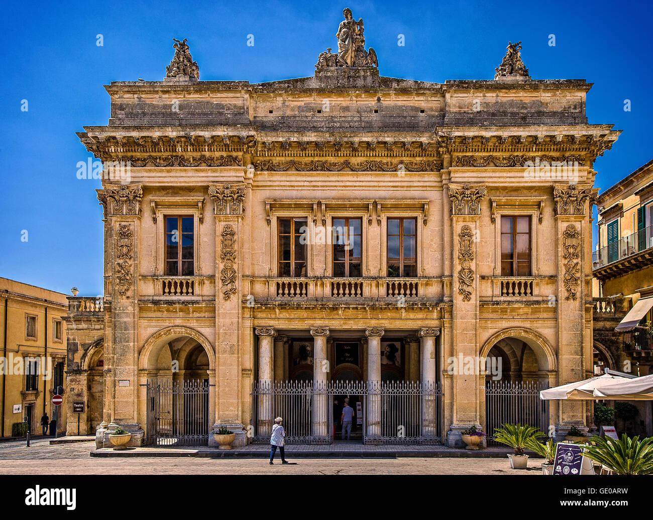Italy Sicily Noto Tina di Lorenzo Theater - Stock Image
