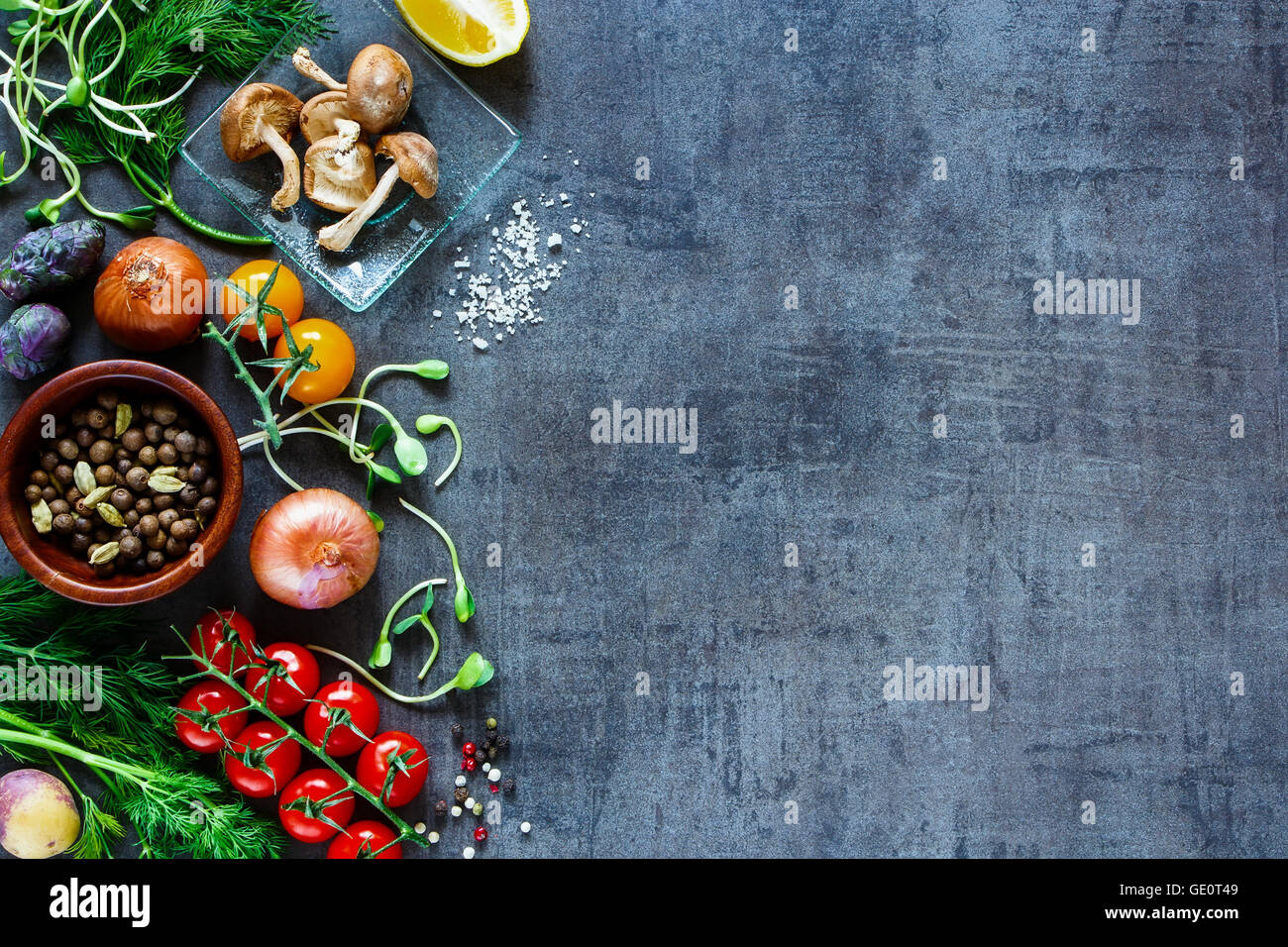Garden Vegetables With Fresh Ingredients For Healthily Cooking On Stock Photo Alamy