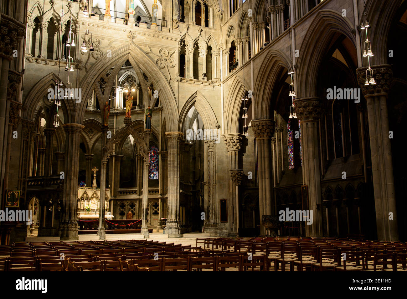 geography / travel, Norway, Trondheim, Nidaros Cathedral, Additional-Rights-Clearance-Info-Not-Available - Stock Image