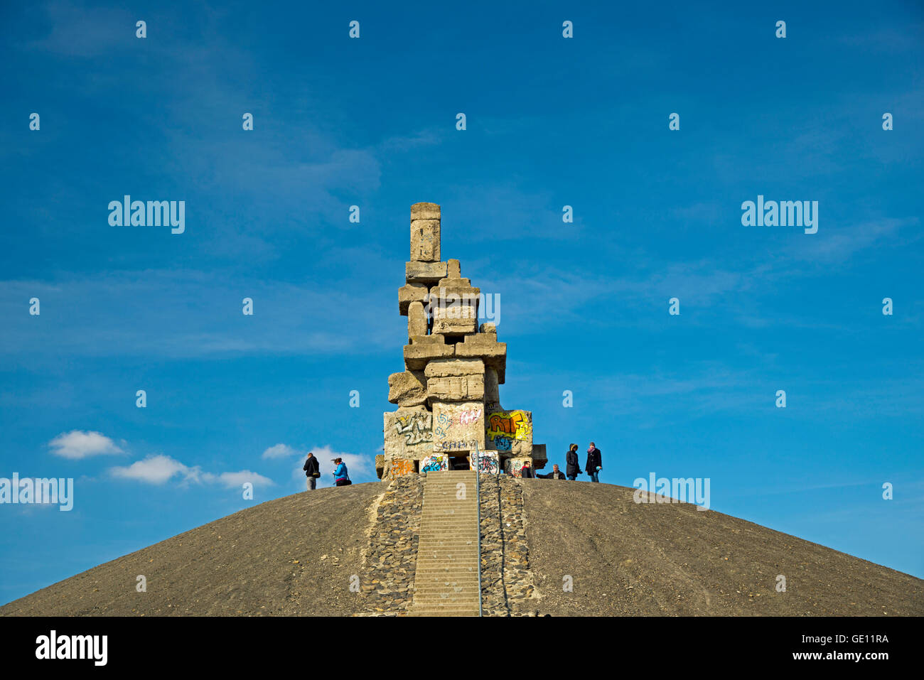 geography / travel, Germany, North Rhine-Westphalia, Gelsenkirchen, work of art 'Himmelstreppe' by the artist - Stock Image