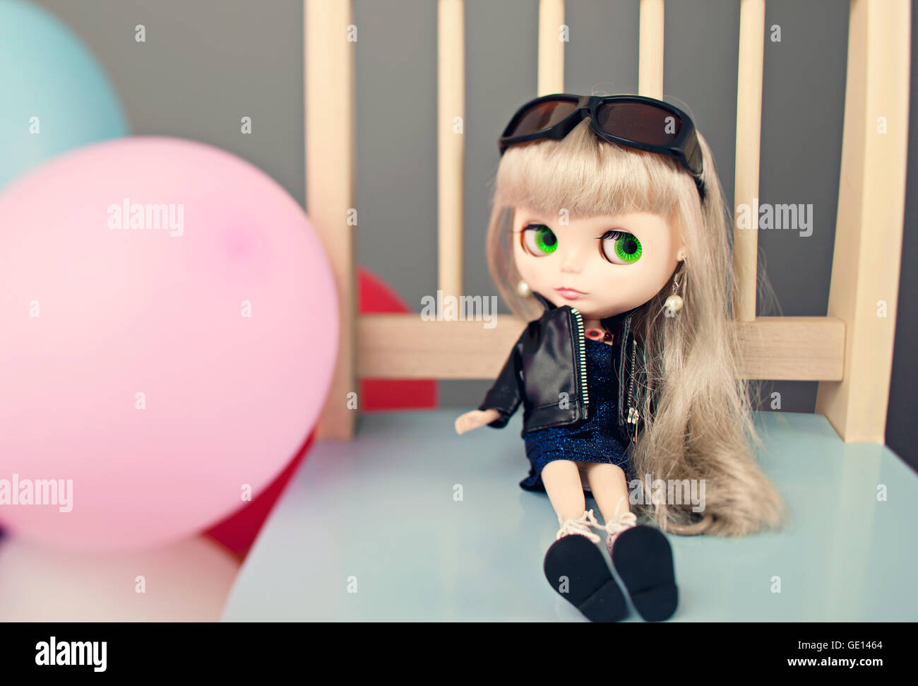 Blythe Doll in studio - Stock Image