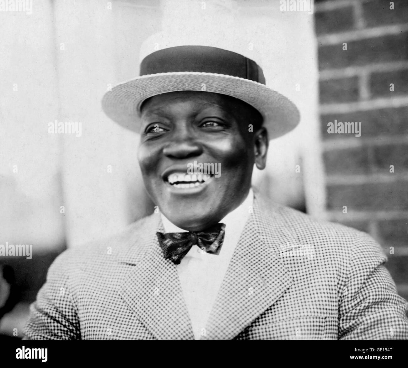 Jack Johnson, Boxer. Portrait of John Arthur 'Jack' Johnson (1878-1946). Photo by Underwood and Underwood - Stock Image