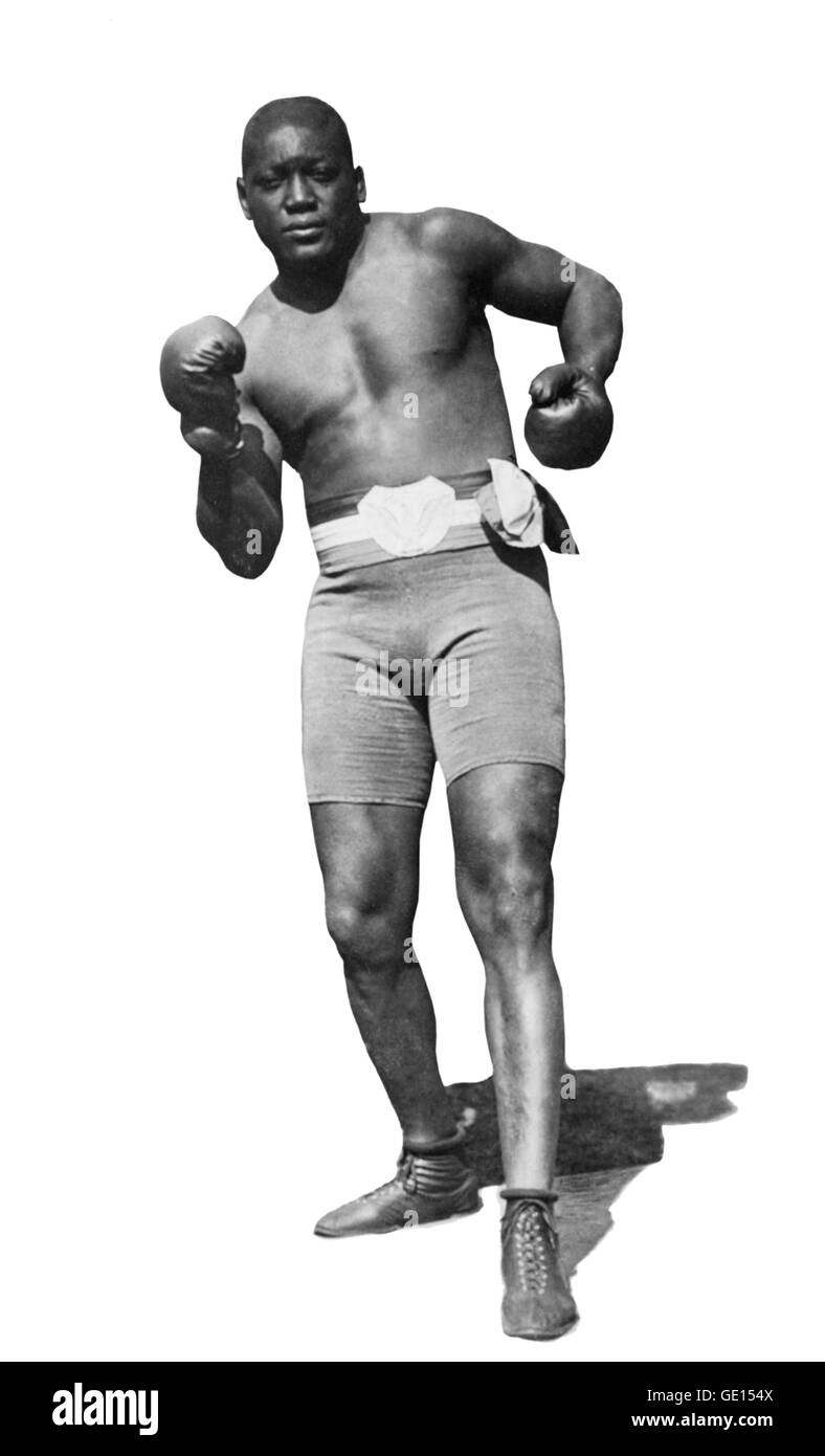 Jack Johnson, Boxer. Portrait of John Arthur 'Jack' Johnson (1878-1946), by E S Caywood, 1910. - Stock Image