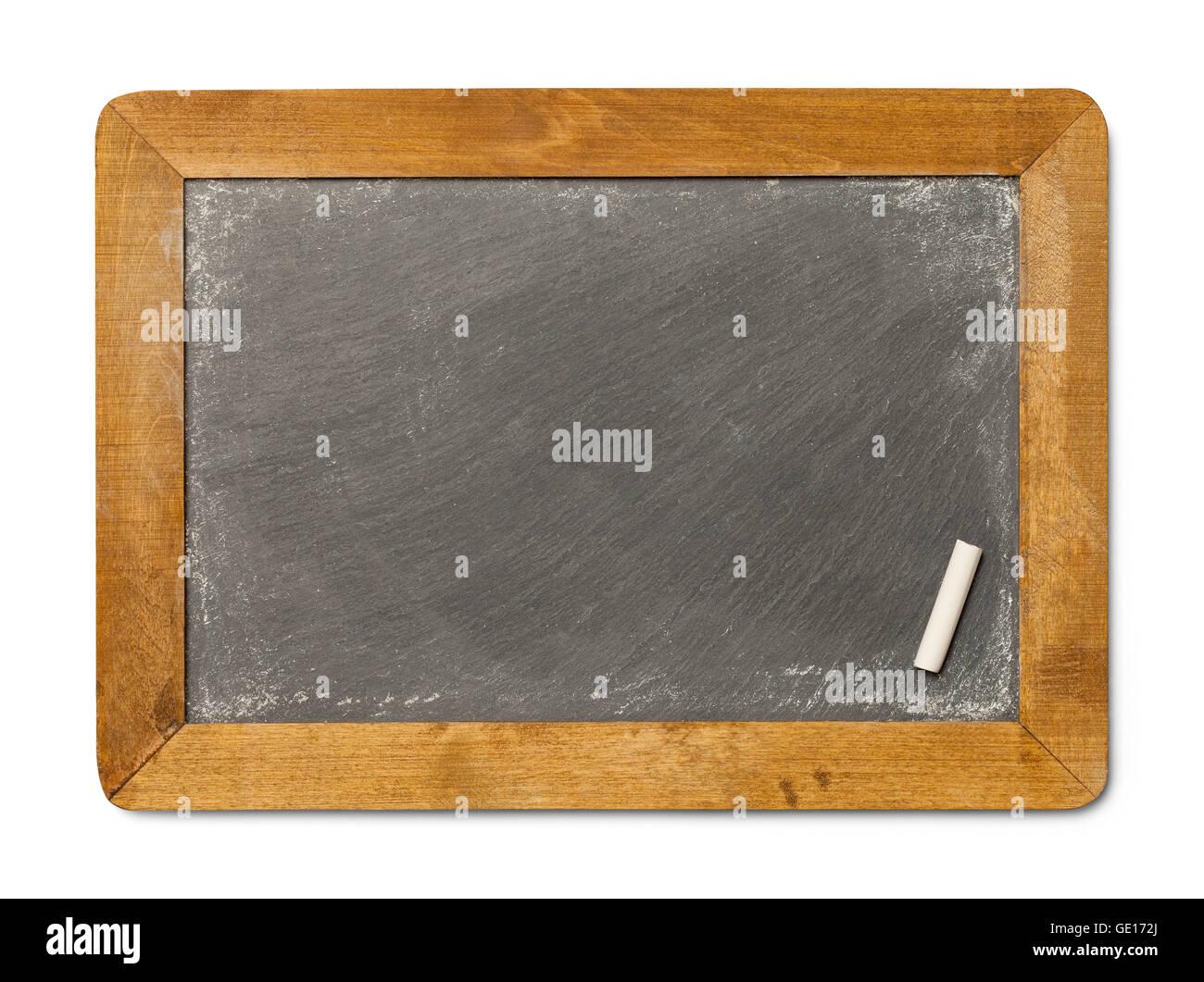 Blank Chalkboard Slate With Chalk Isolated On White Background Stock Photo 111894906