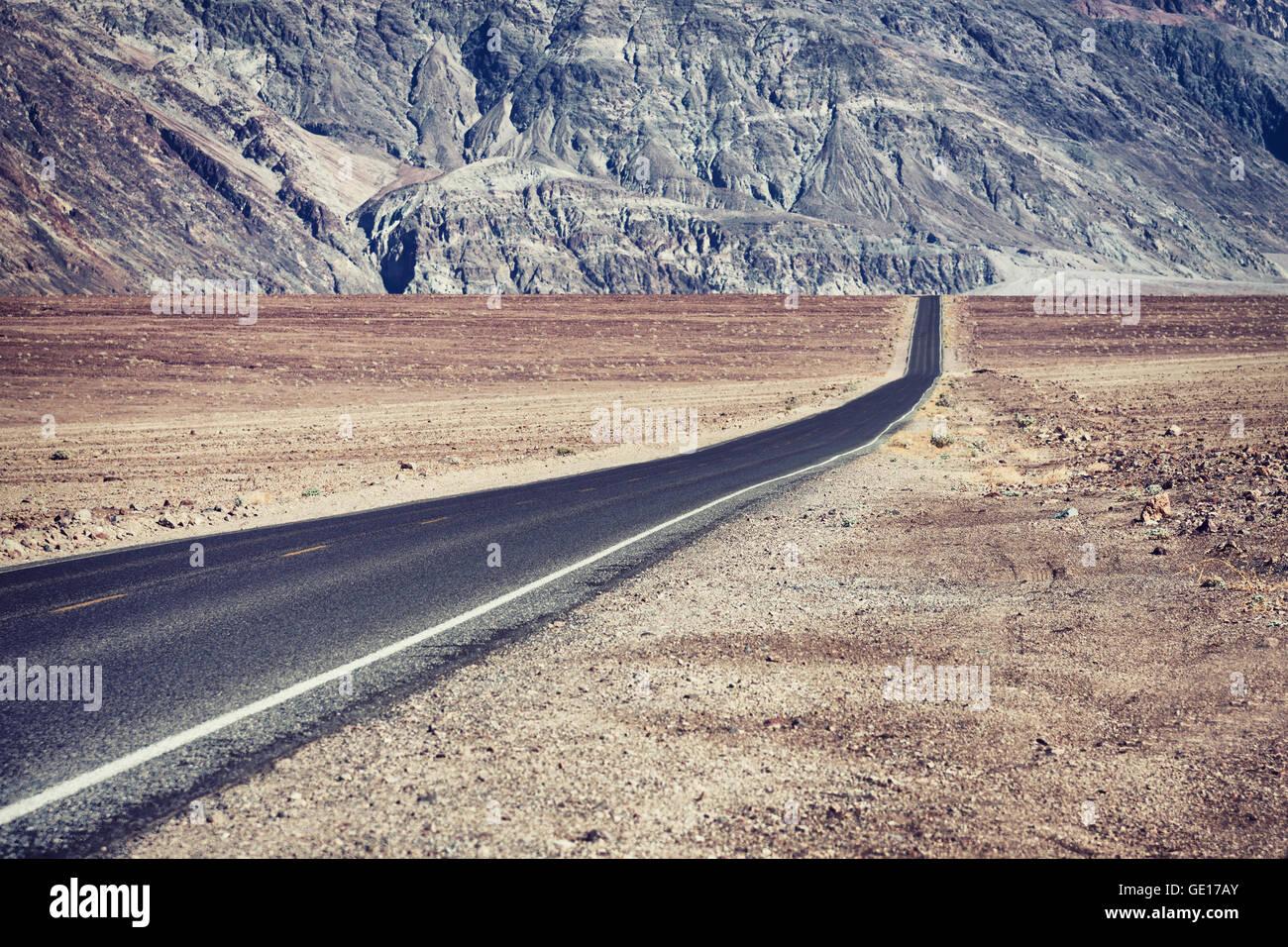 road in Arizona desert, USA - Stock Image