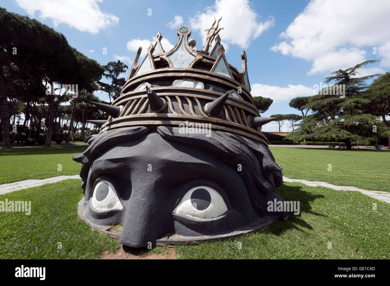 A prop from Federico Fellini's film Casanova as seen on the grounds of the film studio Cinecitta in Rome, Italy - Stock Image