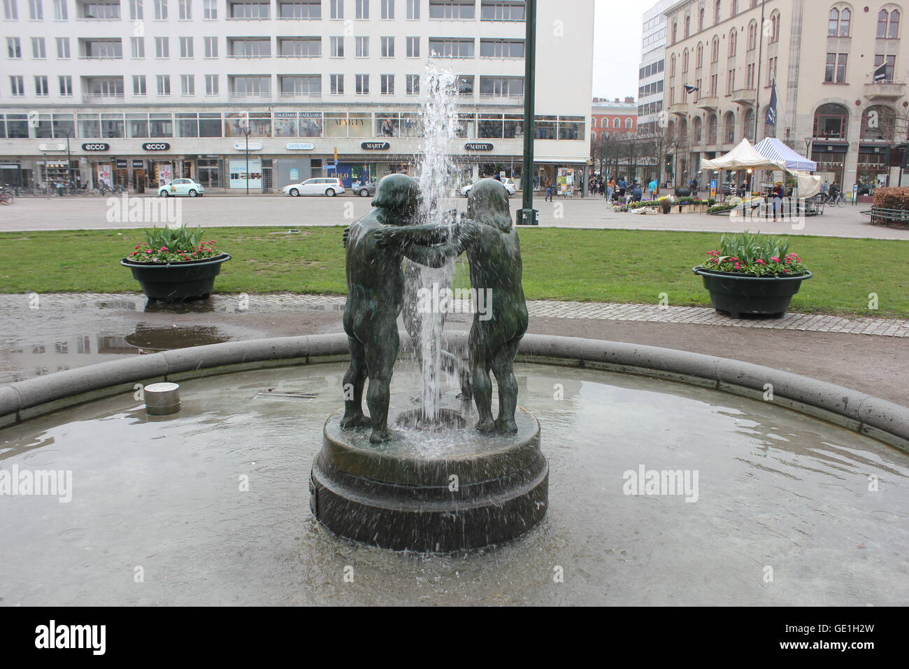31fe0d5b20e5 Gustav Adolf's Square (Gustav Adolfs torg) with statues and fountains in  Malmö, Sweden