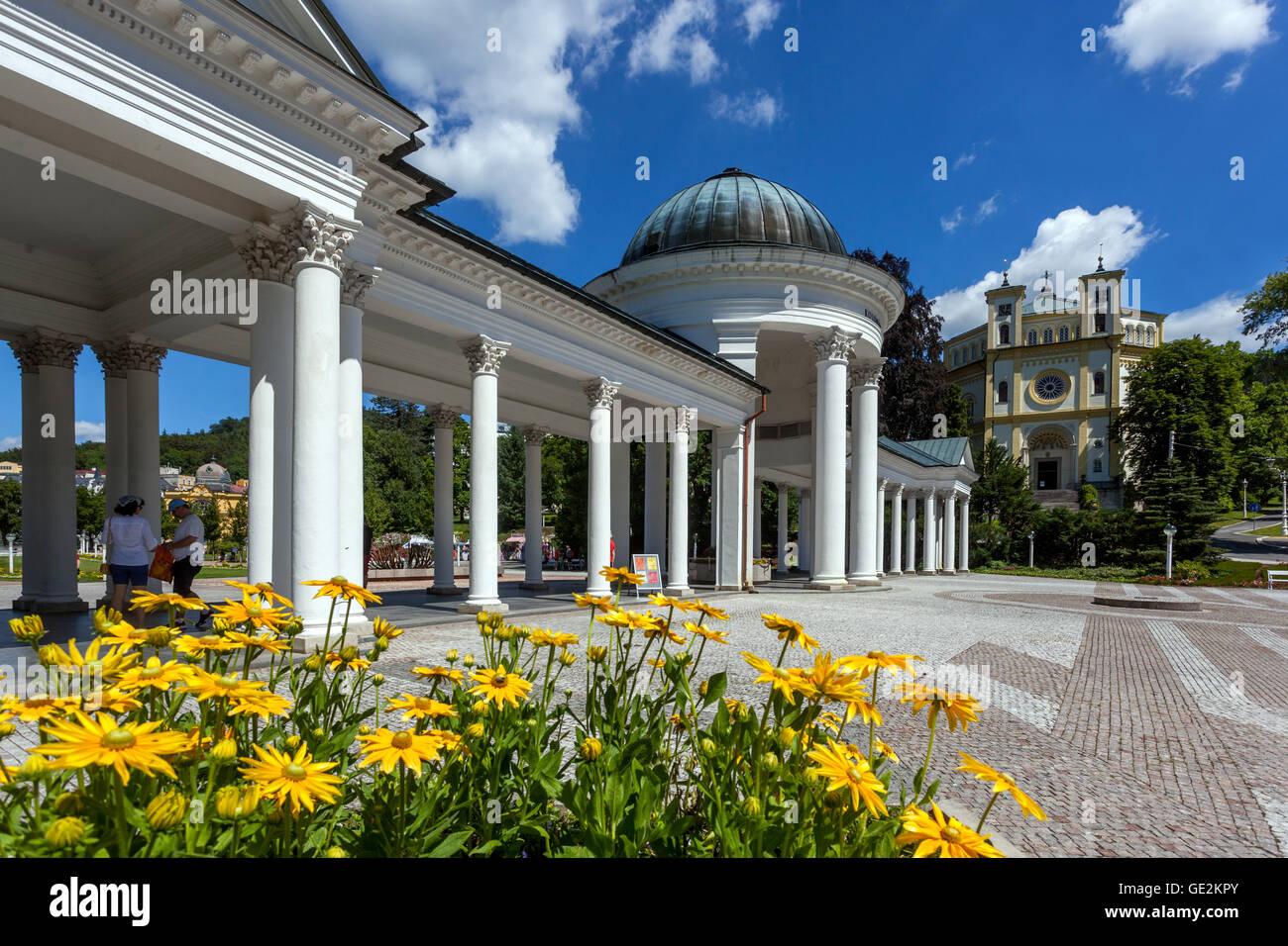 Colonnade, Marianske Lazne, Czech spa town,Czech Republic - Stock Image