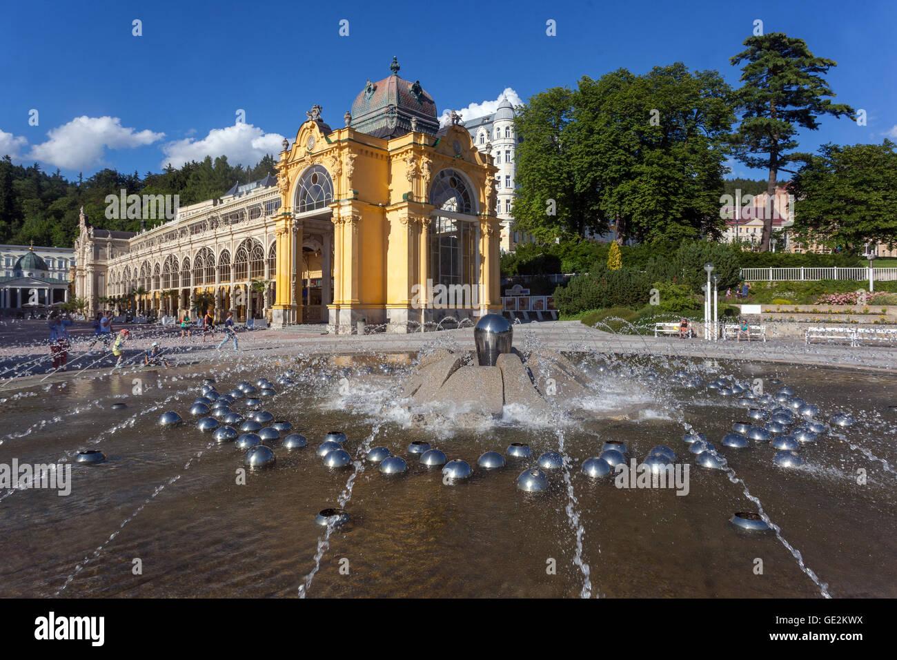 Colonnade, Marianske Lazne (Marienbad), a spa town, West Bohemia, Czech Republic - Stock Image