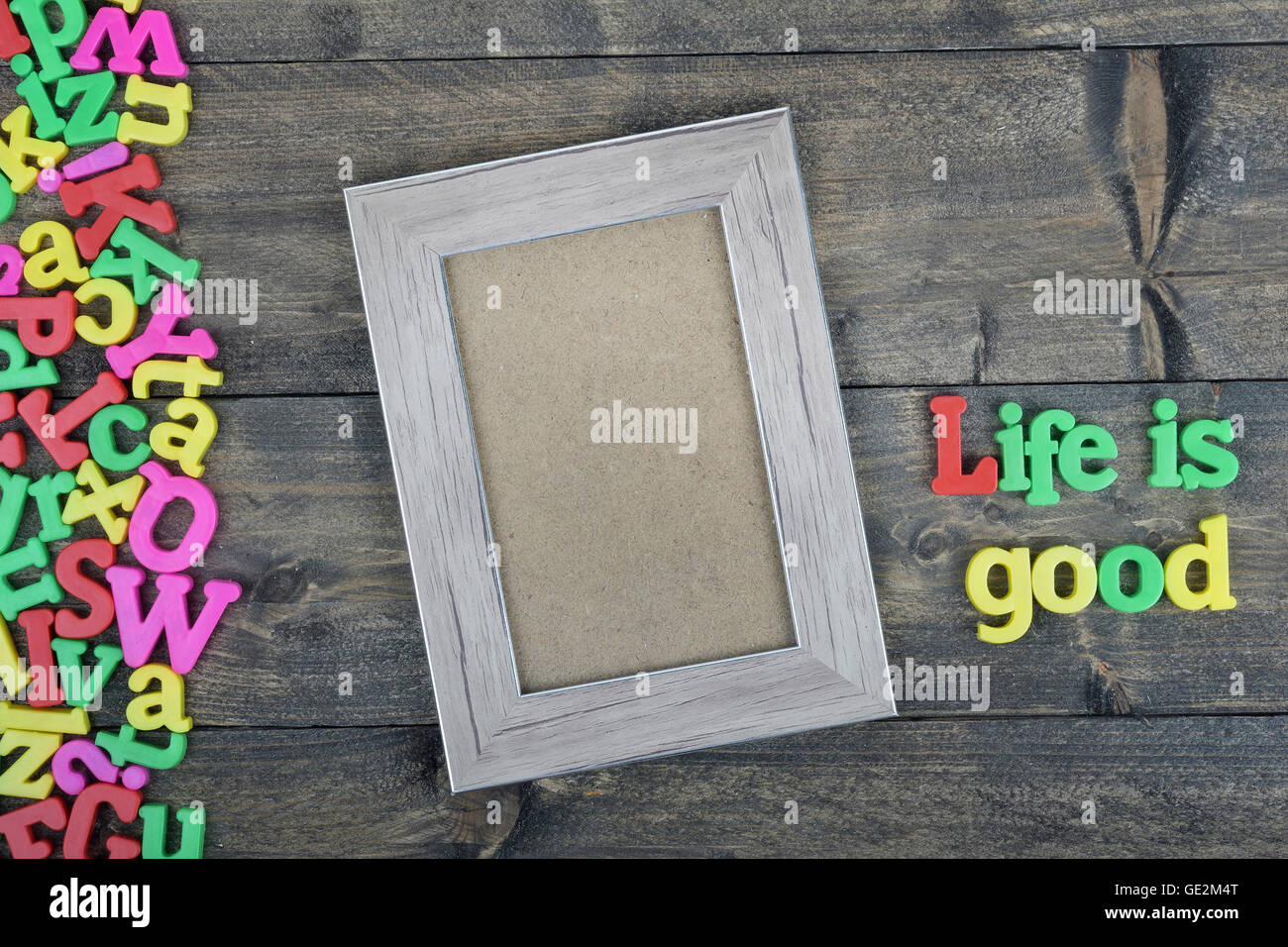 Life Is Good Word On Wooden Table Stock Photo 111927112 Alamy