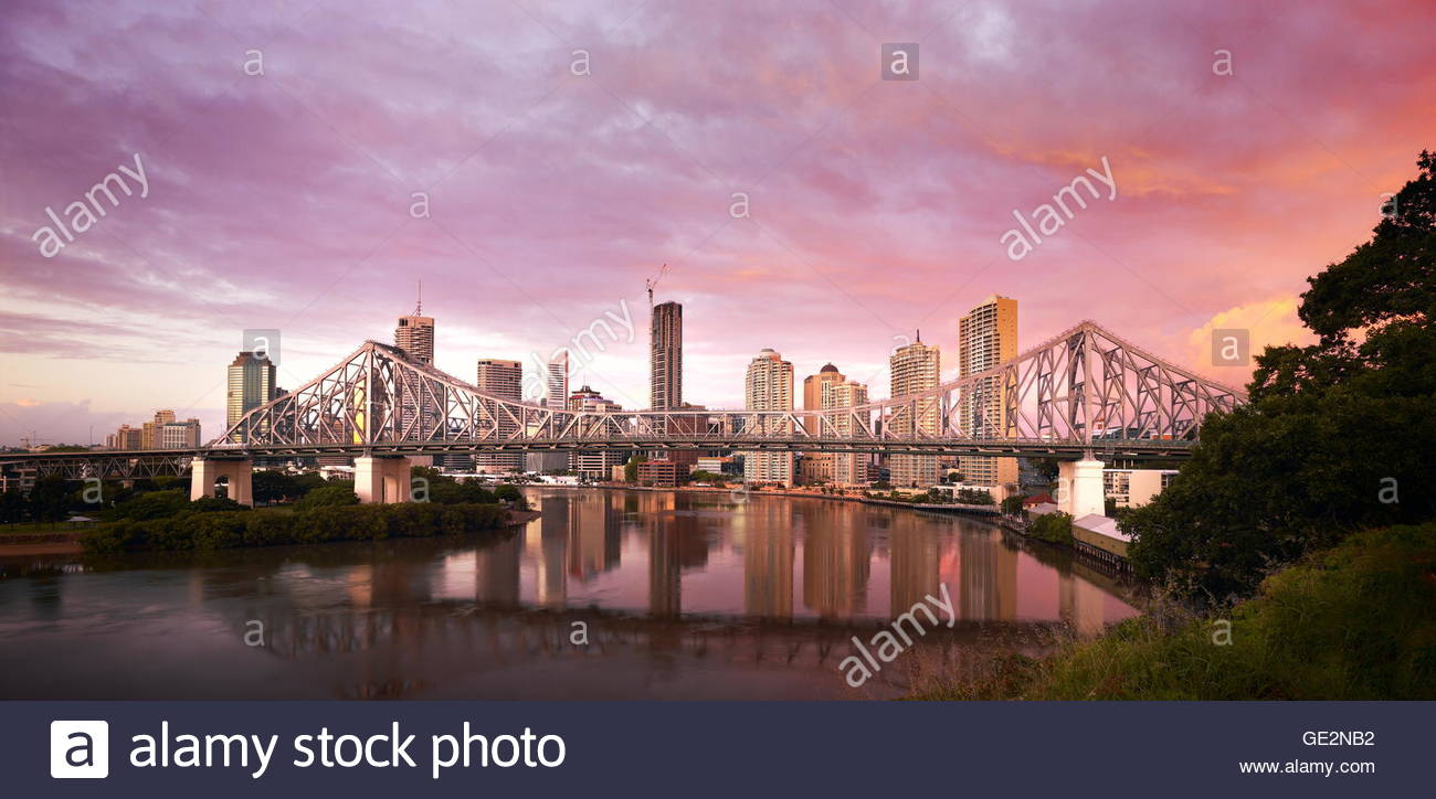 Brisbane Story Bridge, Brisbane - Stock Image