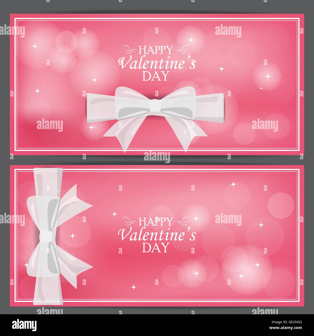 Love Valentine Day Banner Can Be Use For Greeting Card Gift Stock